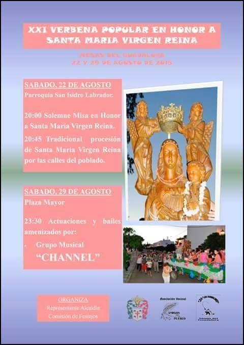"""Cartel """"XXI VERBENA POPULAR"""" en Mesas del Guadalora. - Haz """"clic"""" en la imagen para ampliar."""