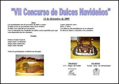 """Cartel """"VII CONCURSO DE DULCES NAVIDEÑOS"""" (Año 2009) - Haz """"clic"""" en la imagen para ampliar."""