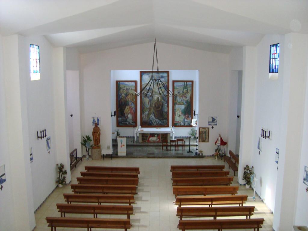 Vista interior de la Iglesia Parroquial de San Isidro Labrador