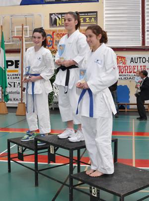 Podium Ana y Berta Trofeo Diputación 2010
