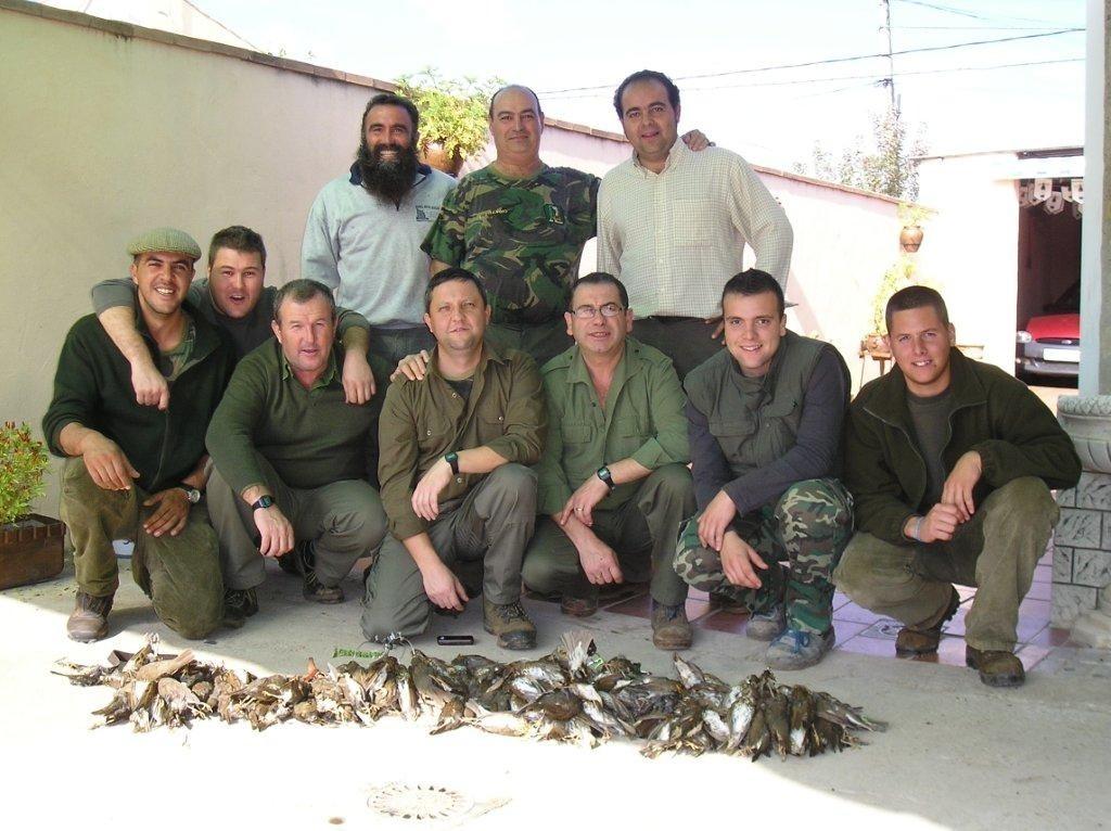 1ª Cacería de Zorzales 2010 (170 Piezas) Cazadores de Mesas del Guadalora