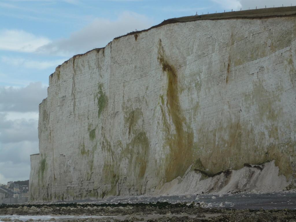 La falaise, le pied de la baie de somme
