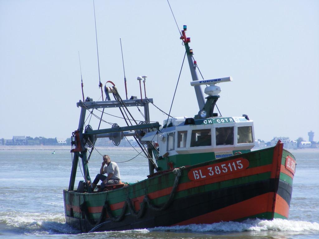 Bateau de pêche typique de la baie de somme