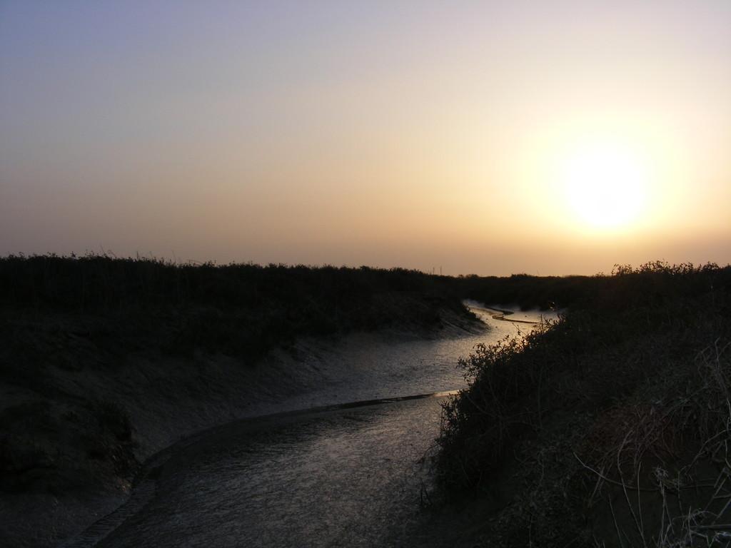 Baie de somme au soleil couchant