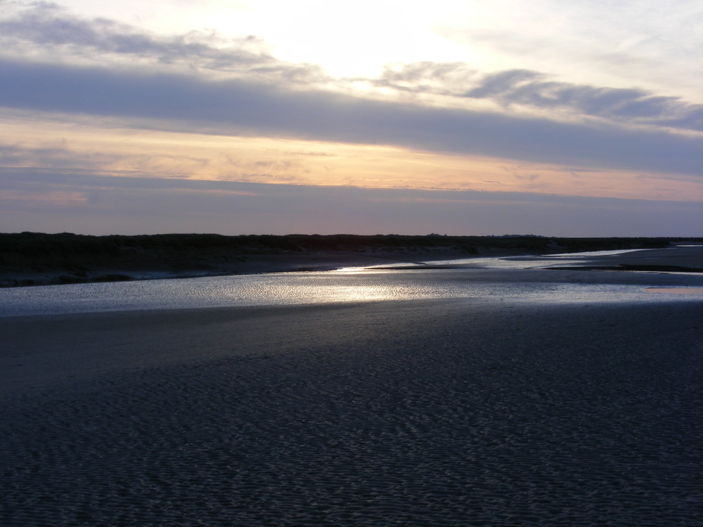 soleil couchant en baie de somme