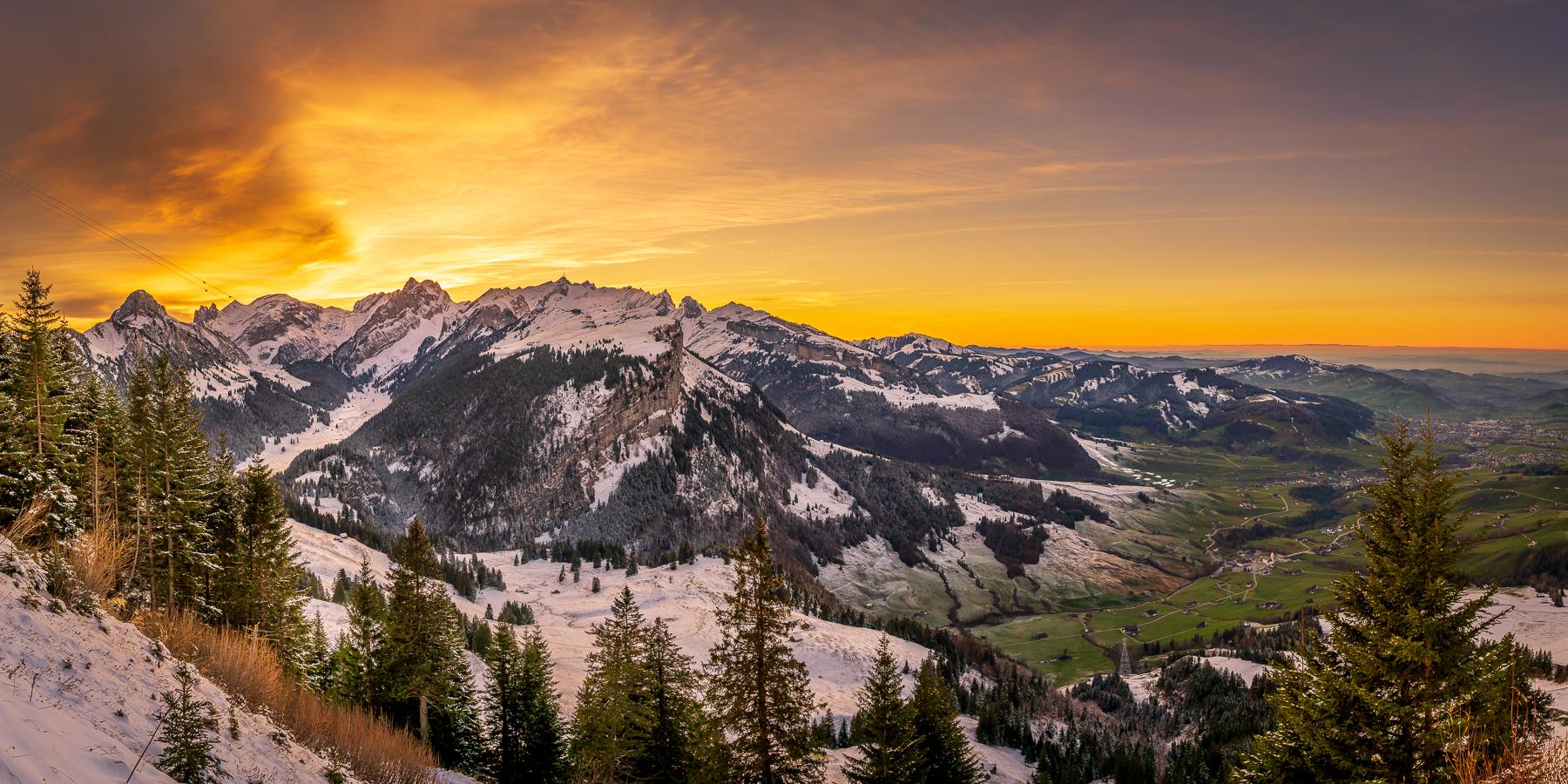Bild Nr. 2020_9440: Alpsteinpanorama im Abendrot