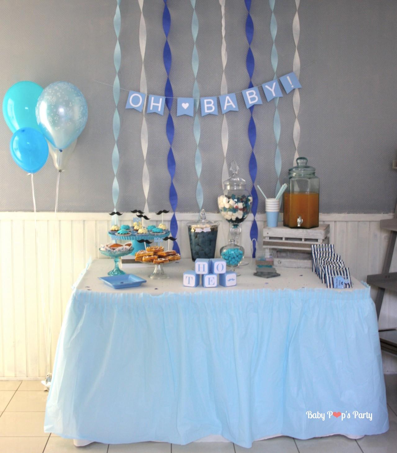 baby shower moustache baby pop 39 s party d coration baby shower france. Black Bedroom Furniture Sets. Home Design Ideas