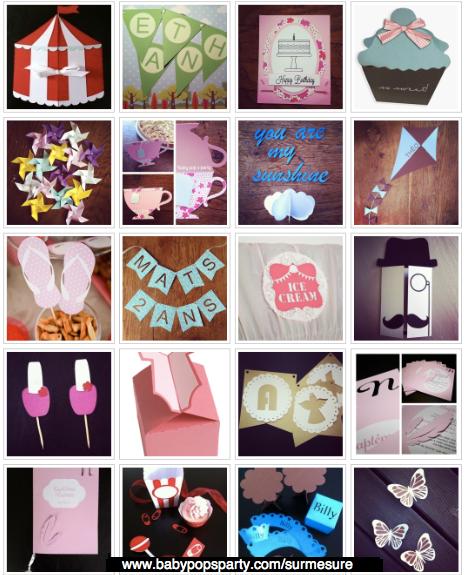 soldes sur mesure personnalisée papeterie carte baby pop's party guirlande fanions étiquettes
