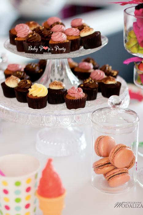 anniversaire enfant cupcakes gourmandises macarons tendance rigolo france thème idée décoration jeux rose  fille