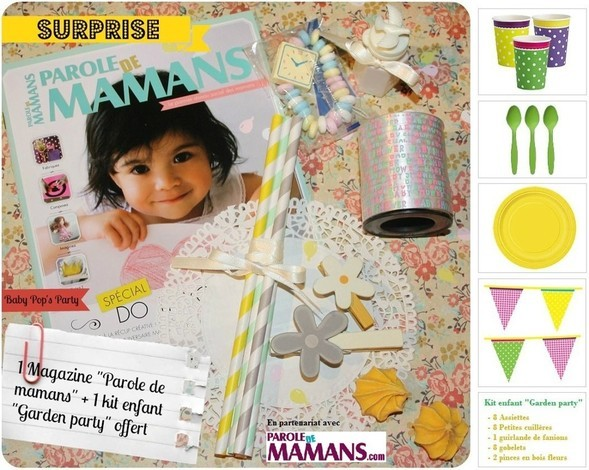 maman baby pop's party concours jeux kit de decoration magazine