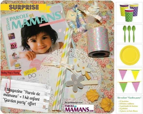 maman baby pop's party concours jeux kit de decoration magazine
