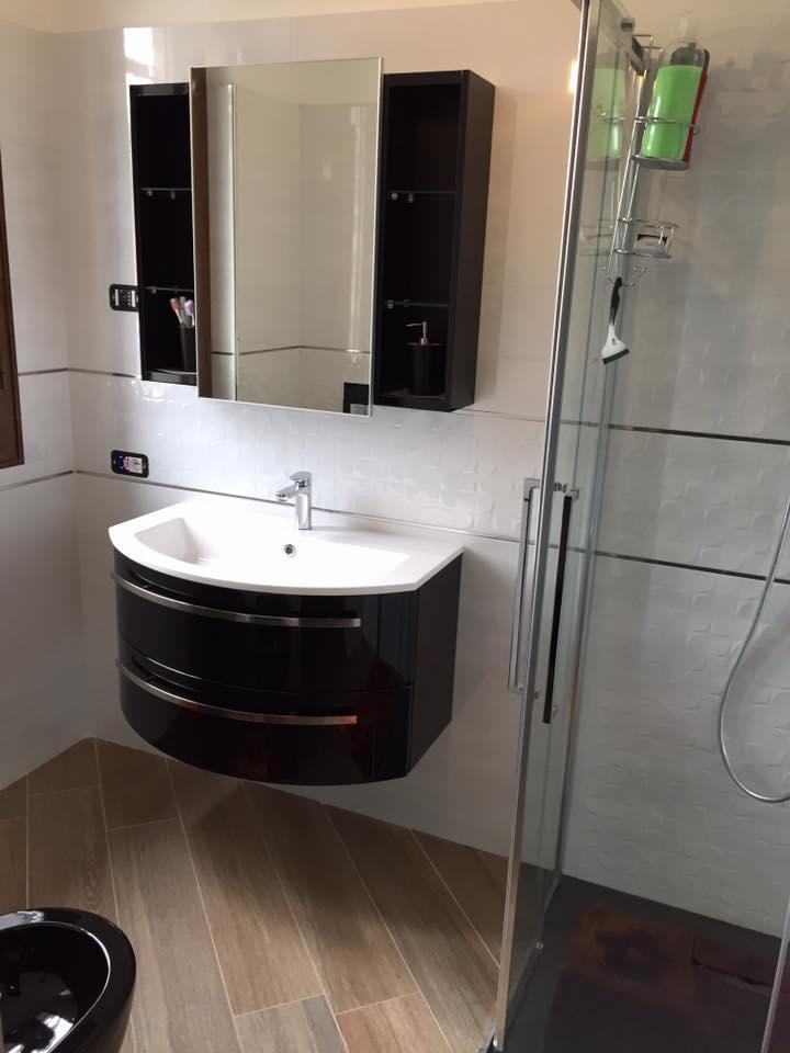 Bagno moderno in ristrutturazione bagno in Brianza