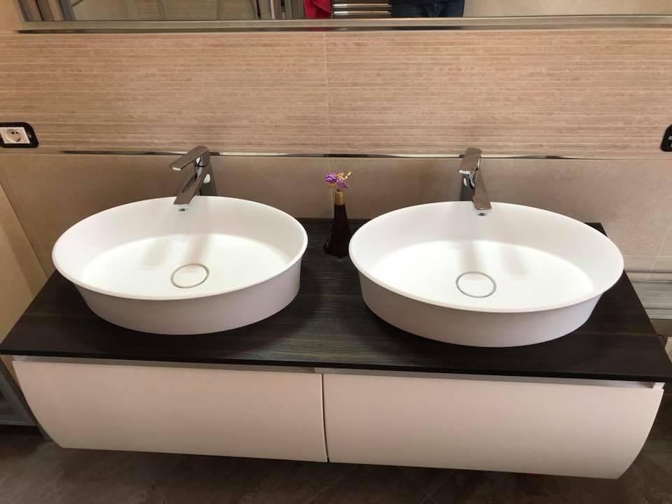 Lavabo doppio in ristrutturazione bagno a Monza