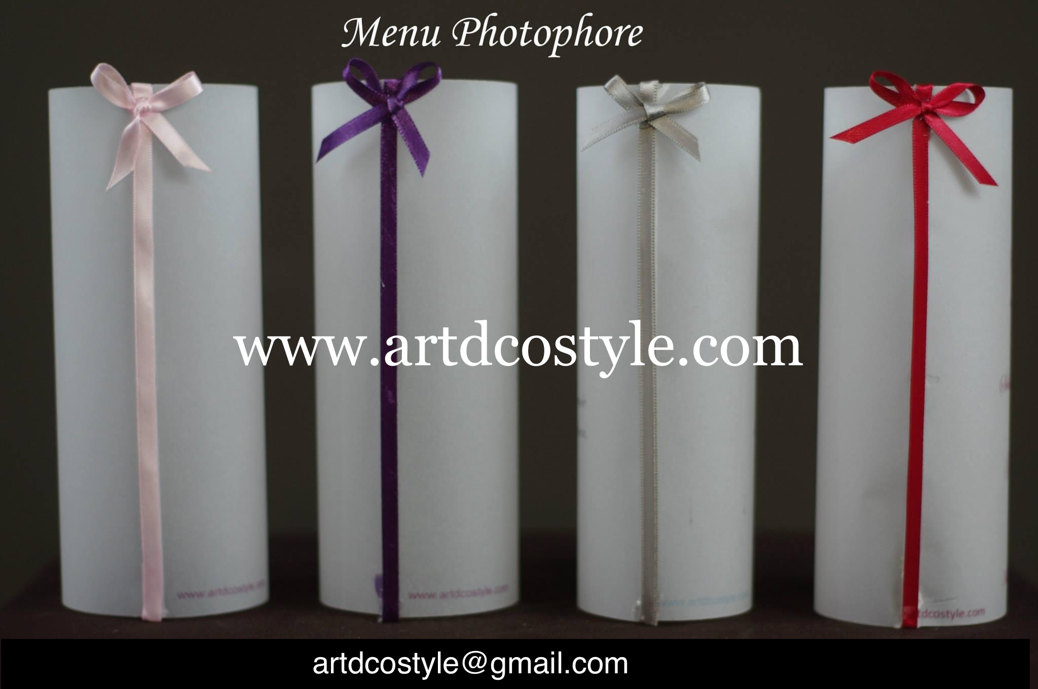 menu photophore mariage