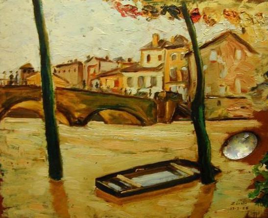 Santos Zarate peinture tableau plaisance du gers