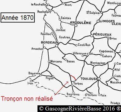 Gare de Miélan et Castelnau Rivière-Basse train chemin de fer