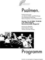 "Plakat ""Psalmen"""