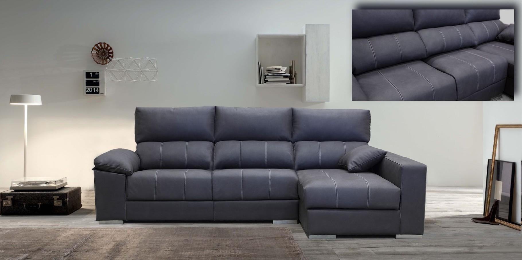 sofa cheslonge 285 cm dos puff extraible reclinable arcon en la ches solo 799€