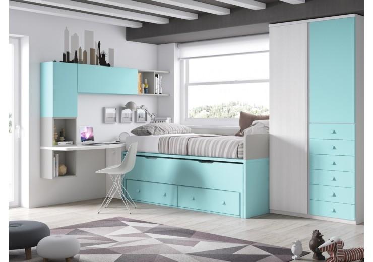 dormitorios juveniles completamente a la medida 23% descuento