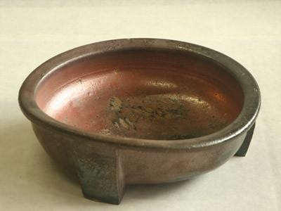炭化窯変水盤