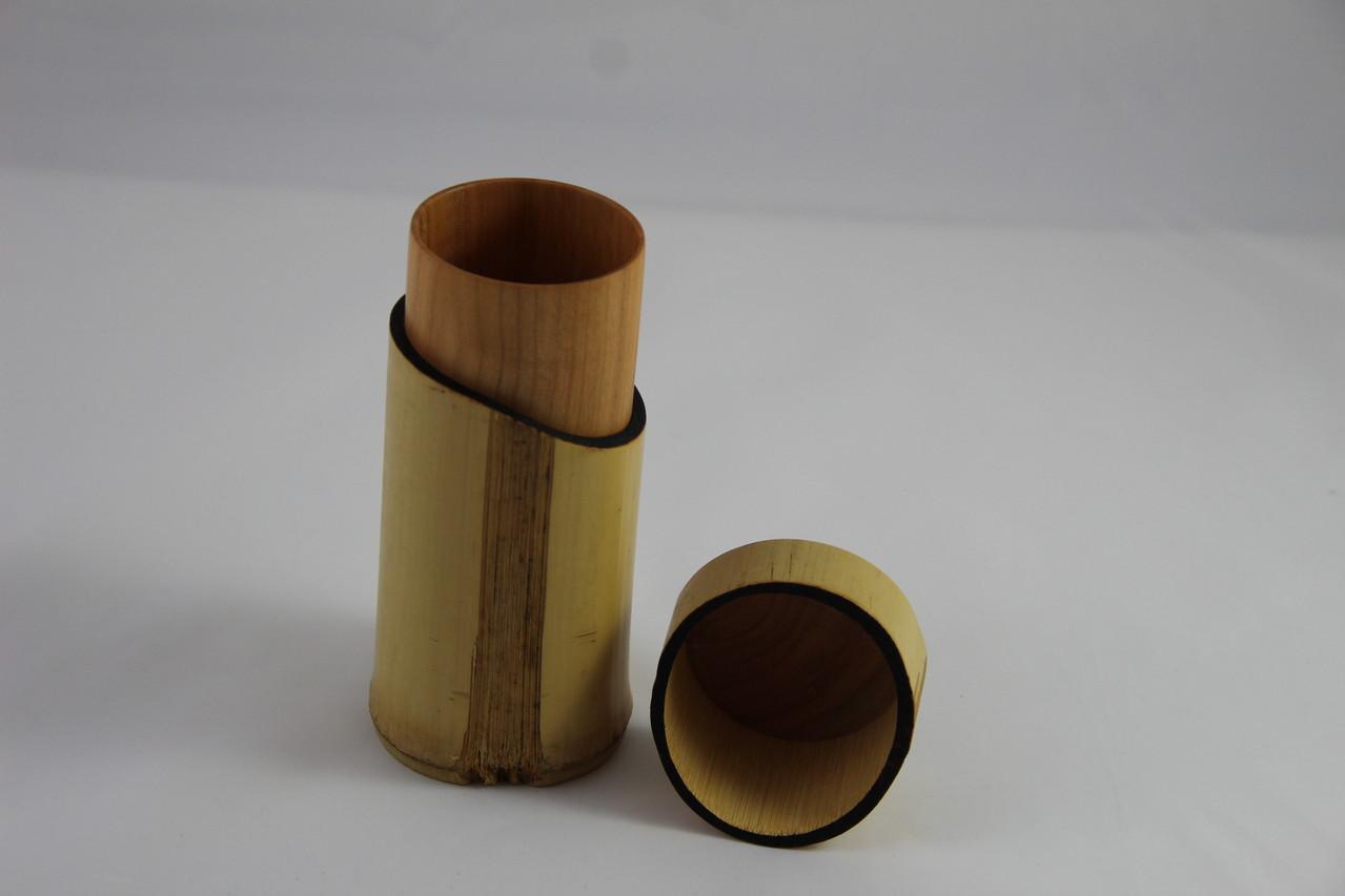 Bambusdose mit Kirsche D/67mm H/155mm