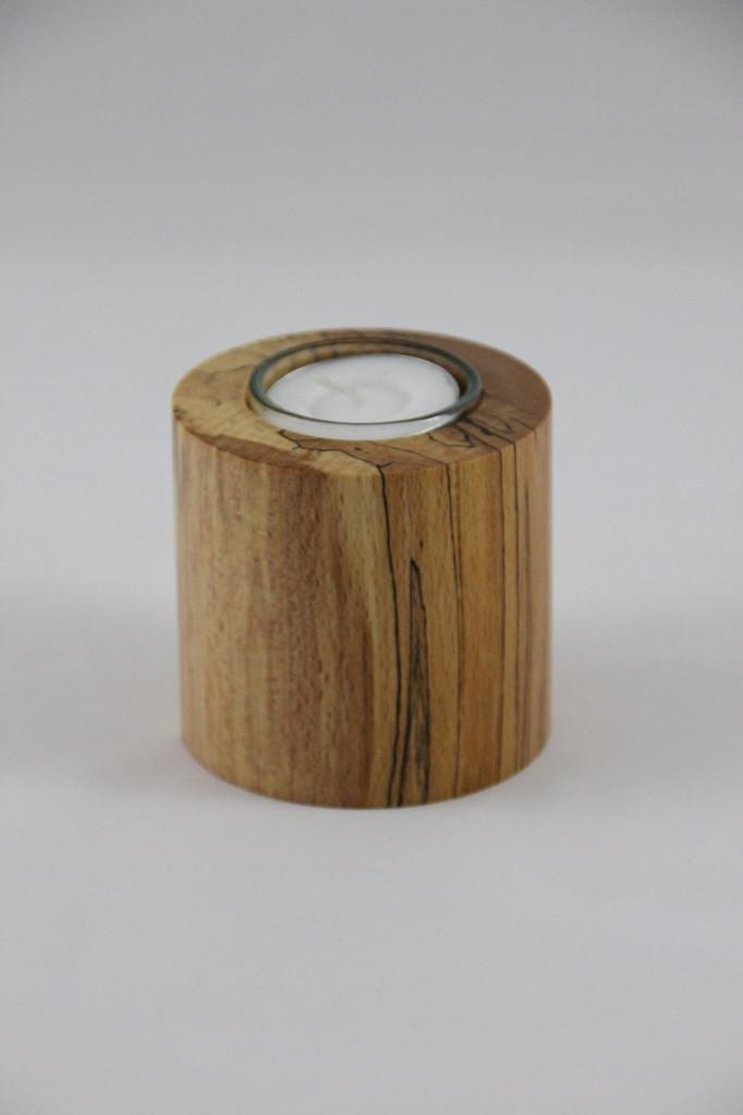Teelicht Buche gestockt D/70mm u. H/70mm