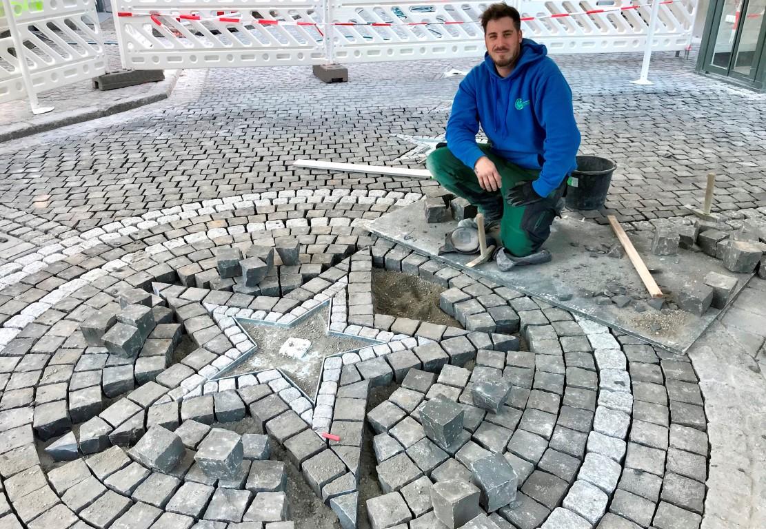 Walk of Fame Europapark Rust - Ornament Stern - Pflasterarbeiten - Freiburger Gartenbau Gelsomino