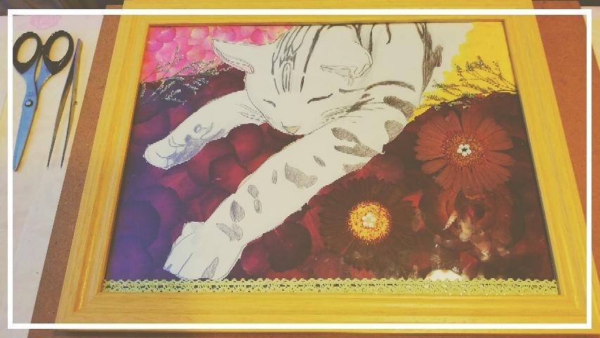 アート作品 押し花絵画