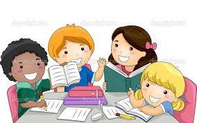 Ammco Bus Dibujos De Niños Leyendo Y Escribiendo