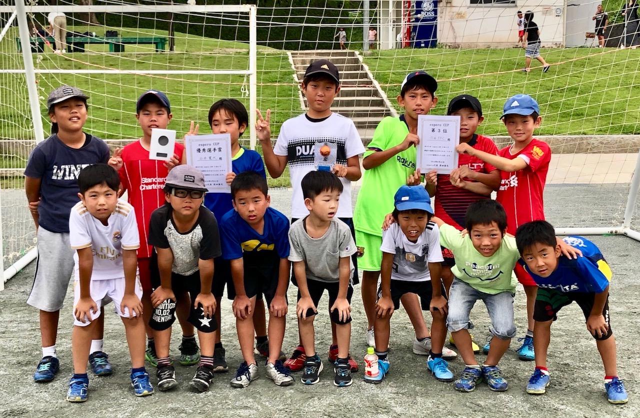 U-11esperoミニサッカー大会  3位!2019/8/31