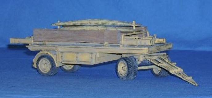 Uferbalkenwagen Pionierfahrzeug B-Brückengerät Brückenkolonne B Deutsche Wehrmacht