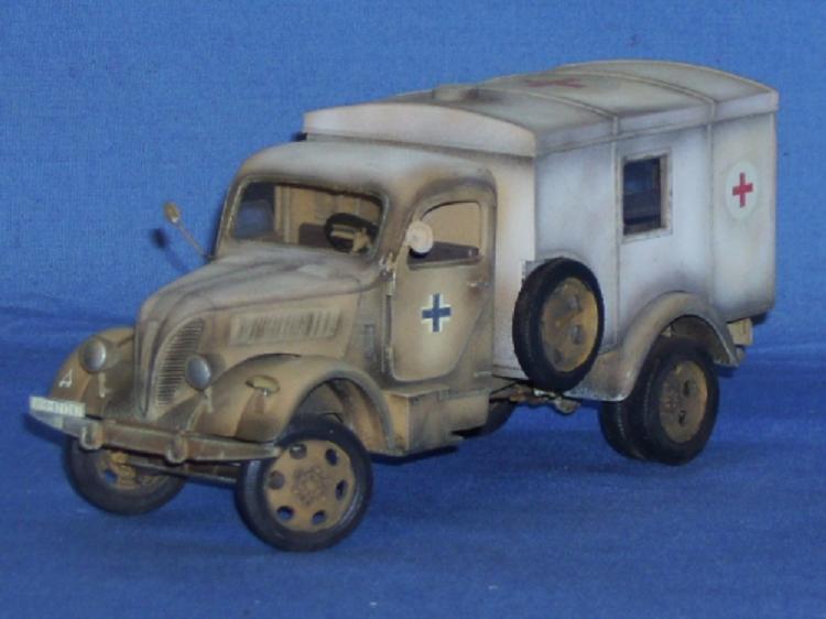 Phänomen Granit Sanitätskraftwagen Deutsche Wehrmacht