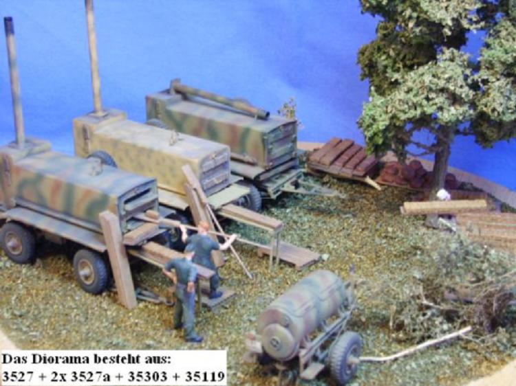 Figuren und Zubehör für Feldbäckerei Sd.Ah. 106 Sd.Anh. 106 Deutsche Wehrmacht