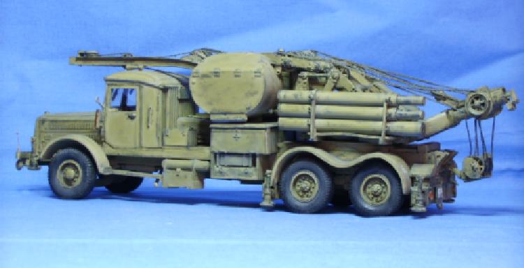 Faun L 900 als LK5 mit 10t Demag Kran in der straßengängigen Ausführung Panzerinstandsetzung Deutsche Wehrmacht