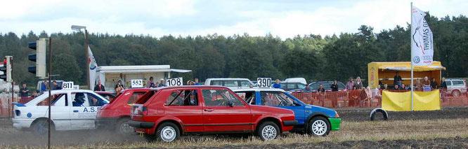 Die gute alte Zeit: Der kleine AX (Nr. 390) schon wieder in Front (Foto NAVC-Nord)