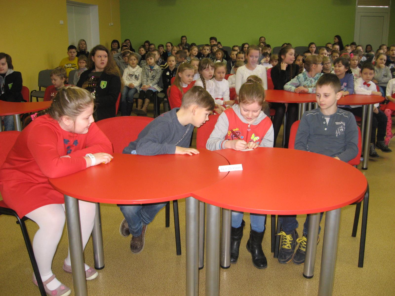 Protmūšio komanda: 2b ir 4a klasių mokiniai