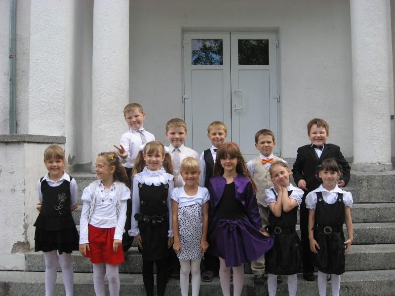Štai taip mes atrodėme baigdami 1-ąją klasę!