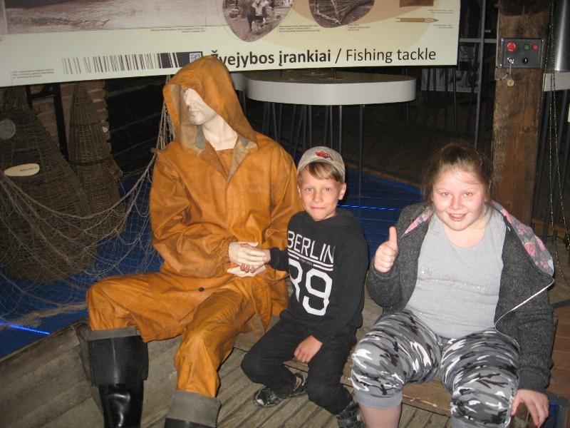 Laive kartu su Deividu ir Auguste - tikras žvejys!