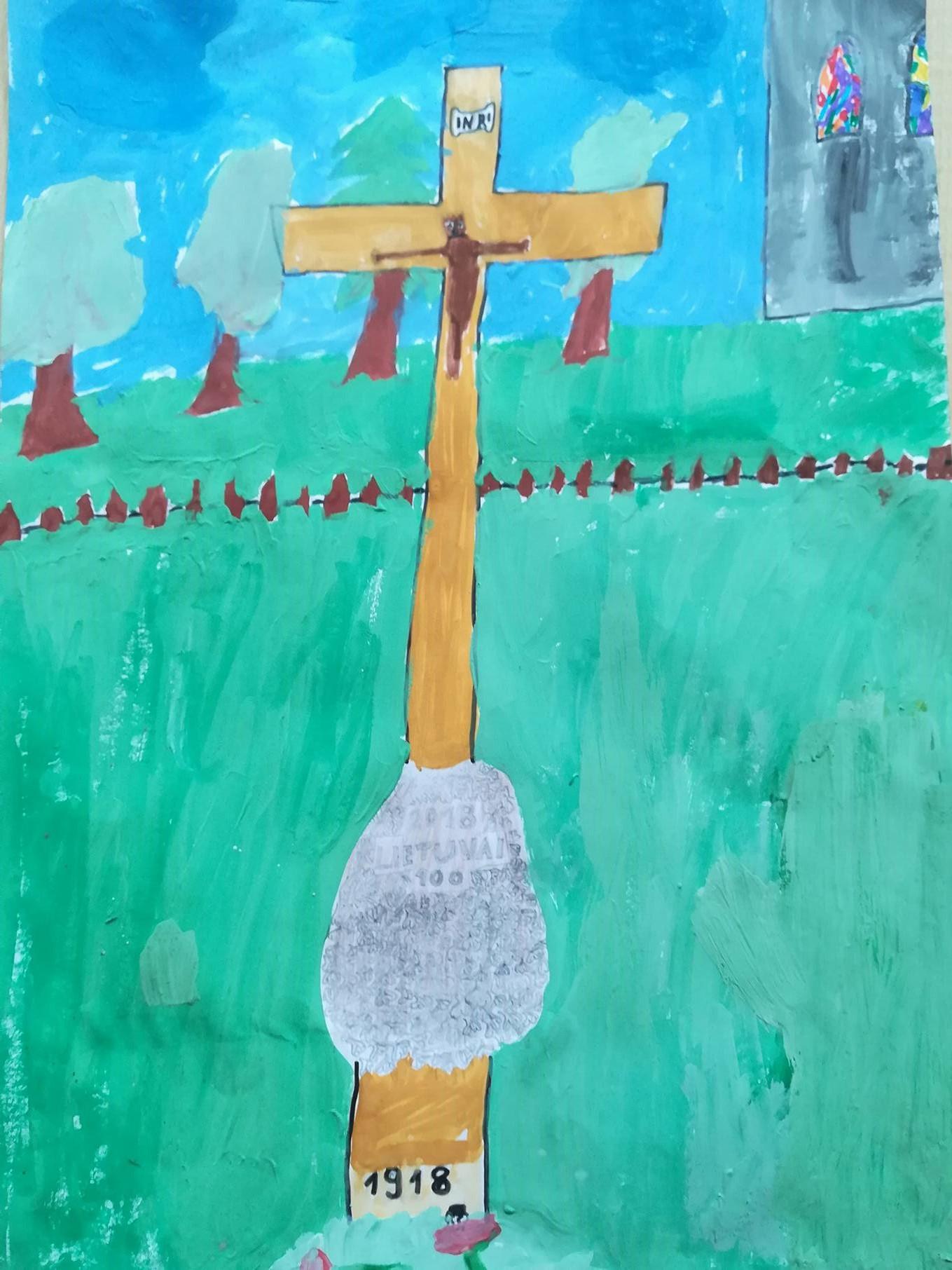 """""""Šimtmečio kryžius"""".  Autorius Gabrielius Sasnauskas"""
