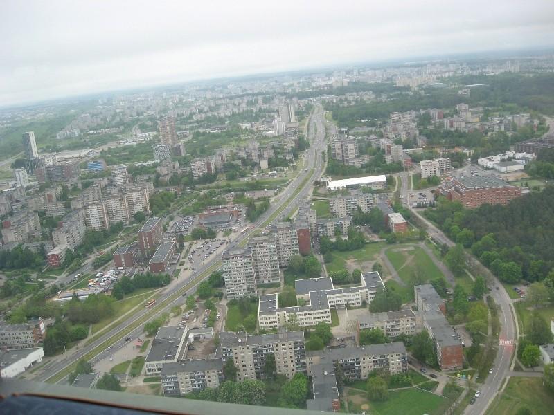 Vilniaus panorama žvelgiant iš televizijos bokšto