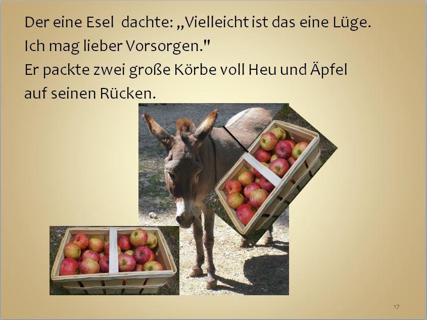 Die Geschichte von den zwei Eseln