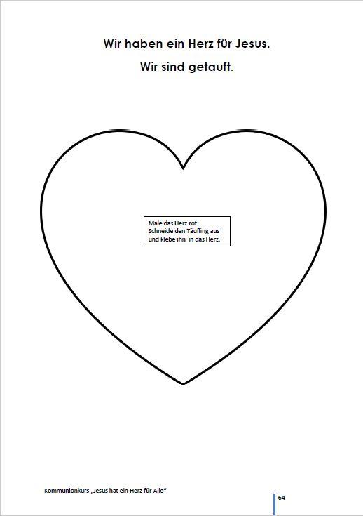 Kommunionkurs: Jesus hat ein Herz für Alle