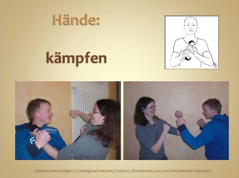 Hände können...