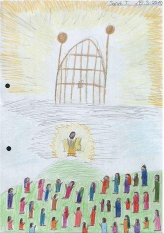Jesu Himmelfahrt gemalt von Sara