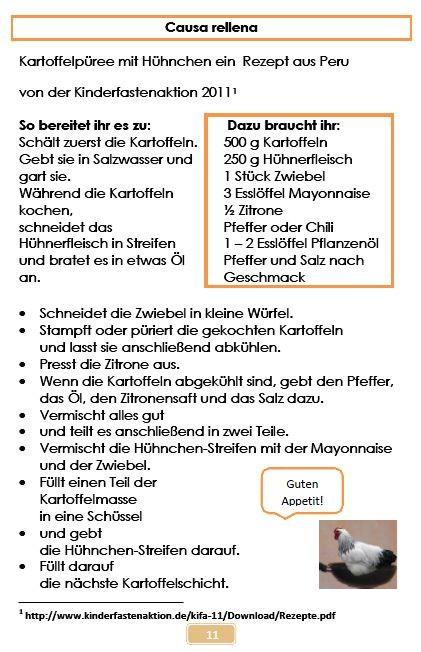 Broschüre Hähnchenhaltung,Rezept