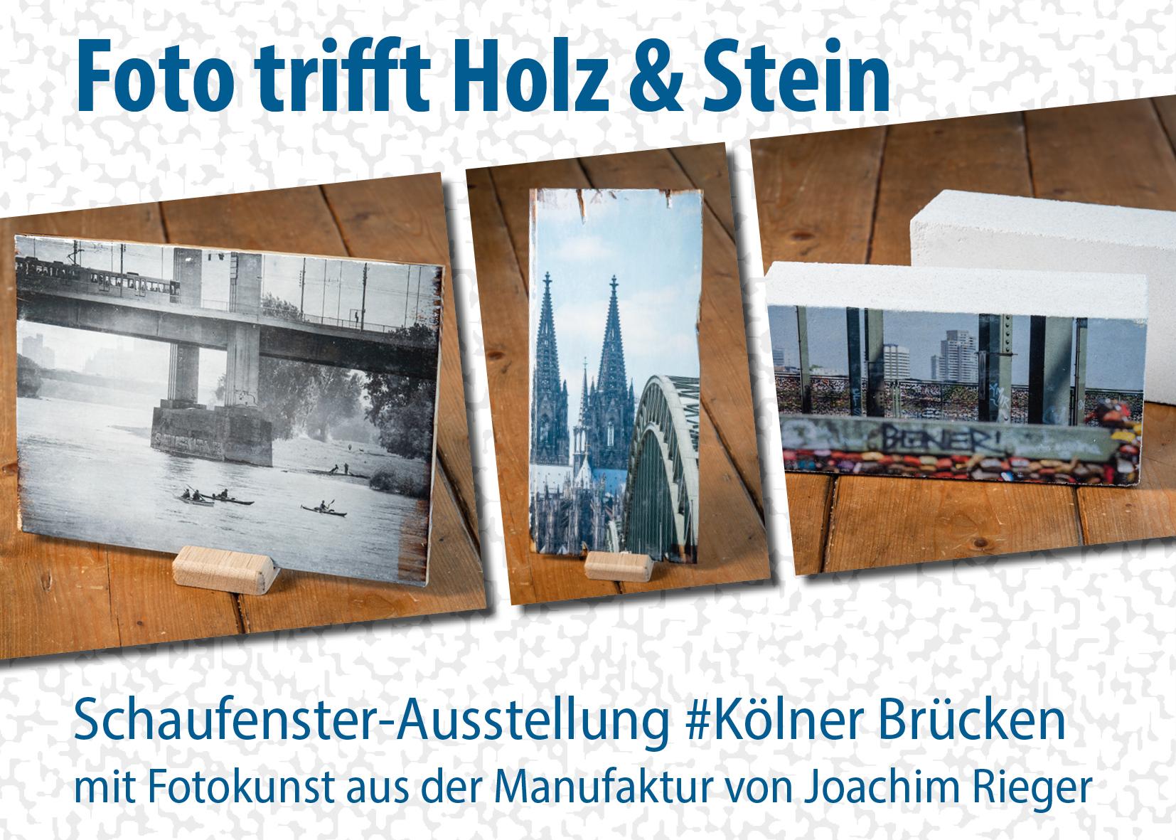 Schaufenster-Ausstellung #Kölner Brücken