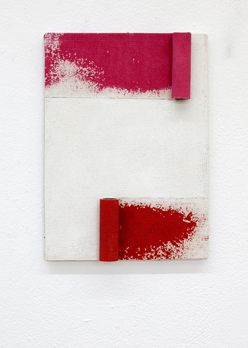 Rolling Red, 2019, 27 x 39 cm