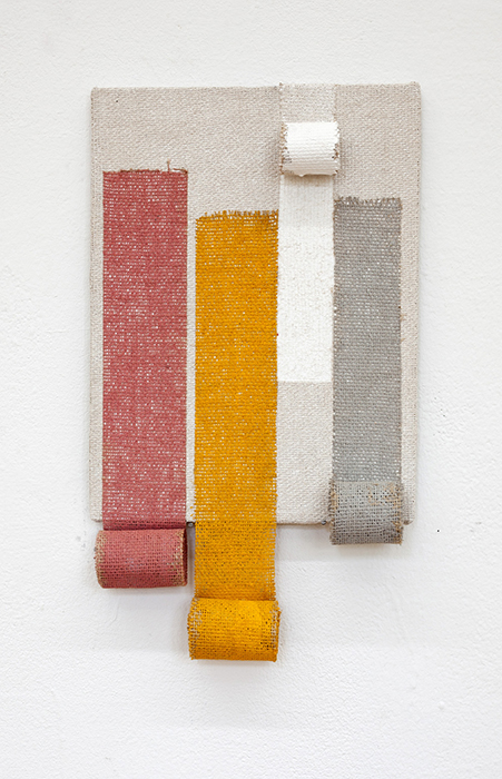 Rolling Pink-Yellow-Gray, 2019, 26 x 38 cm