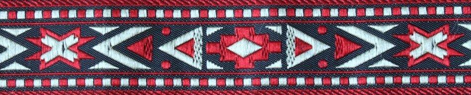 Indianer rot-schwarz-silber