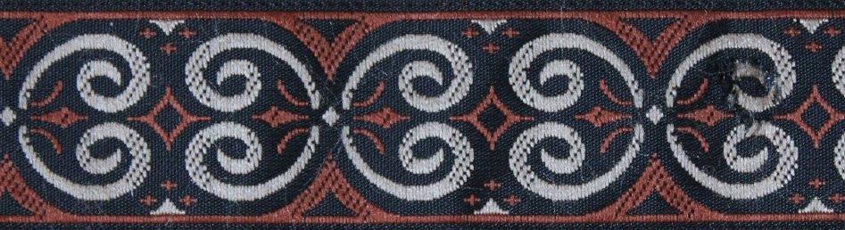 Mittelalter Schnörkel braun-schwarz-silber